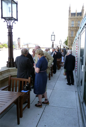 AWC members on the terrace